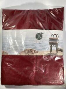 glo Organic | Sateen Fitted Sheet | 100% Organic Cotton | Twin | Ruby