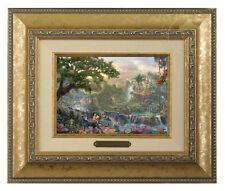 Thomas Kinkade Disney's Jungle Book Framed Brushwork (Gold Frame)