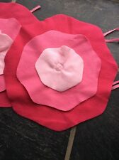 2 Flower Shaped Tie On Chair Pads Girls Never Used