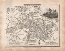 Plan de ciudad 1816 G Cole & J Roper: Coventry