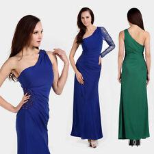 Robes de demoiselle d'honneur bleus en polyester