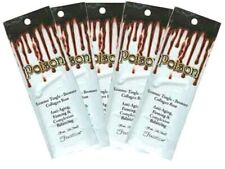 5 Packets of Poison Extreme Hot Tingle Tanning Lotion Bronzer Packets
