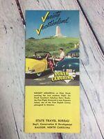 Vintage North Carolina Travel Brochure Souvenir Paper / Circa 1950s