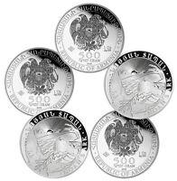 2016 1 oz Silver Armenian Noah's Ark Coins - 5 oz Total .999 fine (BU, Lot of 5)