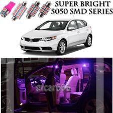 For Kia Forte 2010-2016 Pink LED Interior Light kit + License Plate Light 10PCS