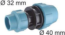 PE Rohr Kupplung Muffe Fittings Red Reduzier Stück 40 mm auf 32 mm  Klemmfitting