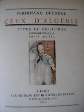 CEUX d' ALGERIE Types & coutumes 45 illustrat couleurs