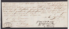 SWITZERLAND  240 Francs 1825  VF/XF   190 years old cheque  VERY RARE