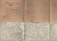cartina alpina - rhomes notre dame-st georges -1:25.000 - in tessuto telato -