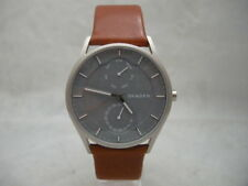 Authentic Skagen SKW6264 Holst Grey Mineral Dial Leather Men's Watch