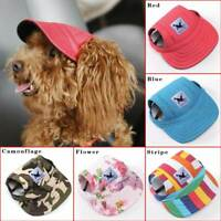 Adjustable Fashion Pet Puppy Dog Baseball Hat Cap Sunbonnet W/Ear Hole #1