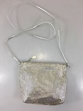 Whiting & Davis Silver Mesh Evening Shoulder Bag Handbag Purse Made in USA