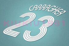 Liverpool Carragher #23 2006-2008 UEFA Champions League Awaykit Nameset Printing