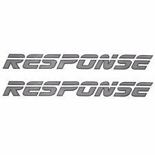 MALIBU RESPONSE SILVER / CHARCOAL 20 X 2 INCH VINYL BOAT DECALS (PAIR)