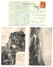 1912s 3 x Used French Stamp & Franked B & W Postcards of: ROCAMADOUR,V.G.C,