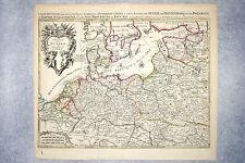 SANSON. THEATRE DE LA GUERRE DES COURONNES DU NORD. CIRCA 1696.