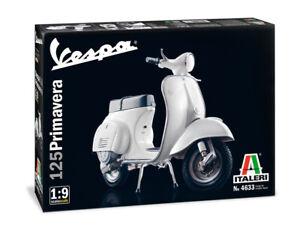 Vespa 125 Primavera Piaggio 1:9 Plastic Model Kit 4633 Italeri