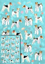 Wire Fox Terrier Dog Gift Wrapping Paper by Starprint -  + matching Gift card