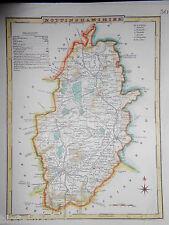 Antiquarian Hand Coloured Map of Nottinghamshire - c1830 - Nottingham, England