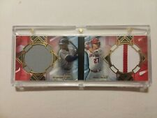 Ken Griffey Jr / Mike Trout 2020 Topps Diamond Icons #d 1/5 Game Used Patch