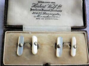 Vintage Antique Edwardian Victorian Mother of Pearl Cufflinks