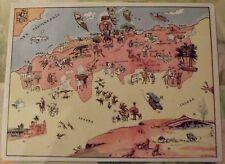 Carte de France Illustrées d'après Pinchon Alger Oran Bone Bou Saada Batna