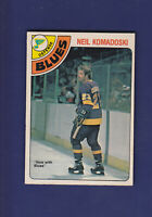 Neil Komadoski 1978-79 O-PEE-CHEE OPC Hockey #382 (NM+) Los Angeles Kings