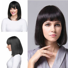 New Sexy women short black straight natural hair Health Fashion wig wigs Cosplay