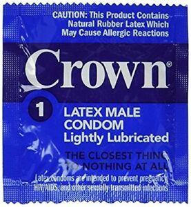 Okamoto Crown Lightly Lubricated Skin Thin Sensitive Bulk Condoms 100-Pack