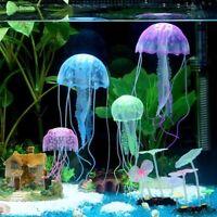 Glowing Effect Jellyfish Aquarium Floating Fish Tank Ornament Decor Pet