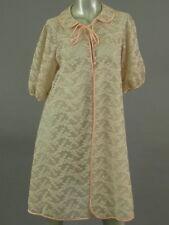 Vintage 60s Hollywood Vassarette Chiffon Lace Peignoir Negligee Lingerie Size 34