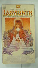 Labyrinth Vtg Fantasy VHS 1986 Adventure Connelly David Bowie Goblin King Castle
