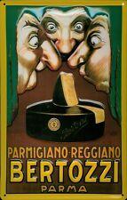 Blechschild Bertozzi Parma Käse Parmigiano Italien Schild Nostalgieschild 20x30