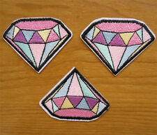 2pcs Color Diamond Embroidery Sew Iron On Patch Badge Transfers Fabric Applique