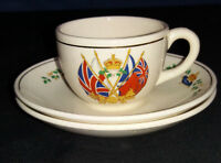 Royal Cauldon One Cup and 2 Saucers for Queen Elizabeth II 1953 Coronation