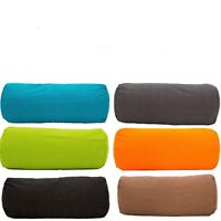 Plain Dyed Bolster Cushion Pillow Cover Cylinder Round Sofa Hollowfibre Filled