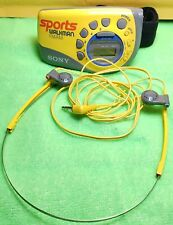 Sony Sports Walkman Am/Fm Radio SRF-M78 with Armband and MDR-W15 Headphones