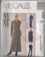 McCalls 2465 Misses NY NY Designer Dress Jacket and Pants Size 10 -14
