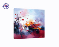 Abstract Oil Painting on Canvas - Modern Wall Art Home Decor - Framed  Unframed