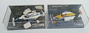 2 MINICHAMPS WILLIAMS F1 N MANSELL HONDA FW11 1986 & RENAULT FW16 1994 FRANCE GP