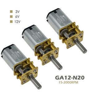 N20 15-2000RPM Micro Encoder Gear Motor Motor Reducer Geared Motor  DC3V/6V/12V