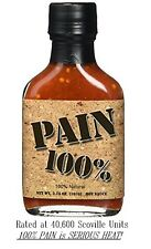 100% Pain Xx- Hot Sauce Mini 3.75 oz Bb12/2018 Habanero ghost juan spicin pepper