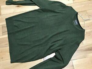 Primark Men's Sage Green Acrylic Crew Neck Jumper Size XL