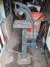Antique Cast Iron Defiance Button Machine Co. Button Snap Press W/ pedestal base