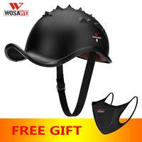 Motorcycle Half Helmet Racing Off Road Open Face Helmet Safety Retro Skull Cap