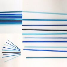 Fused Glass Stringers COE90 Blue Turquoise Aqua Mix Microwave Pendants 10 x 5cm