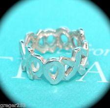 Tiffany & Co Silver Picasso XXXOOO Hugs Kisses Ring Band Sz 6 *MINT*