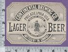 C401 Continental Brewing beer bottle label Philadelphia New Orleans Exposition