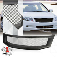 Matte Black ABS Wire Mesh Front Bumper Grille/Grill for 08-10 Honda Accord Sedan