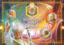 Canonization of Pope John Paul II (Religion) m/s Mali 2014 MNH #VG1075 IMPERF